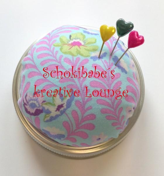 Nähglas Wildflower pink-türkis Tula Pink USA