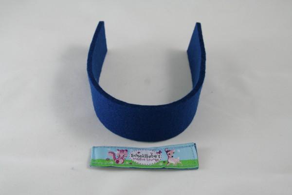 Wollfilz Streifen Zuschnitt royalblau