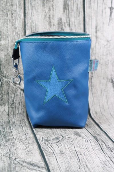 Gassi Taschi Stern blau - grün - blau