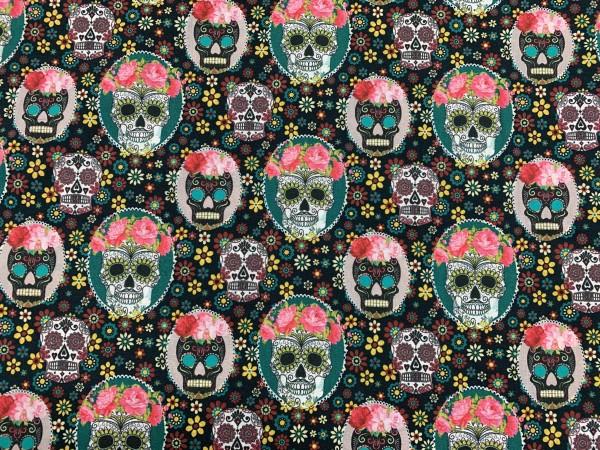 Baumwolle Skulls w/ Flowers