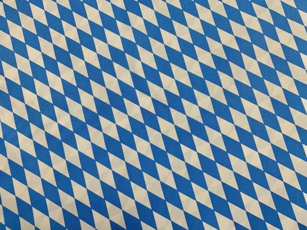 Baumwolle Raute blau - weiß groß