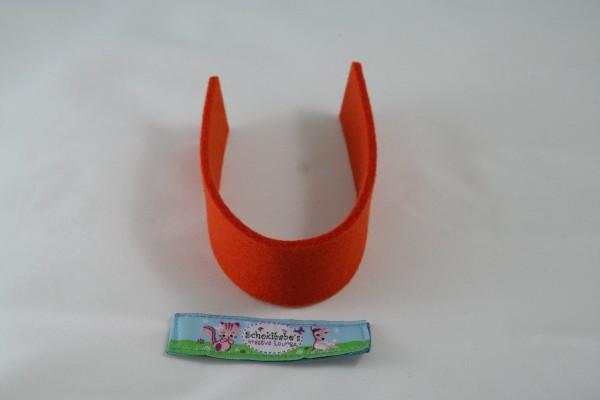 Wollfilz Streifen Zuschnitt orange