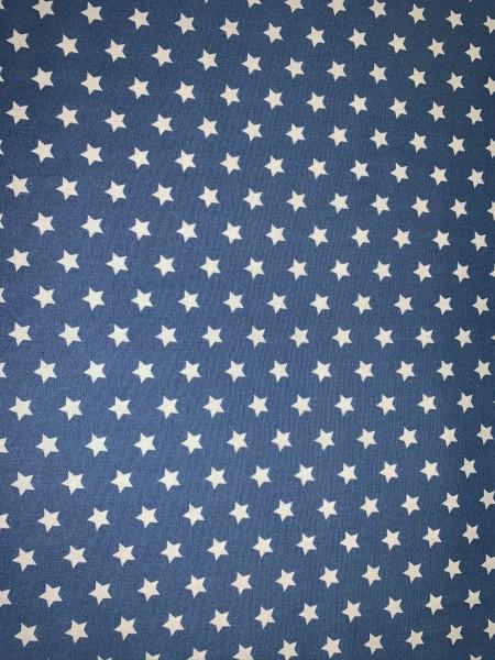 Baumwolle Sterne weiß auf petrol