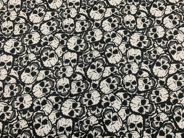 Baumwolle Skulls s/w