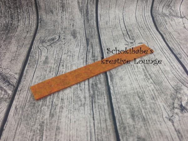 Wollfilz Streifen Zuschnitt orange-meliert