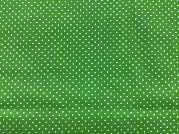 Baumwolle Mini Punkte auf hellgrün