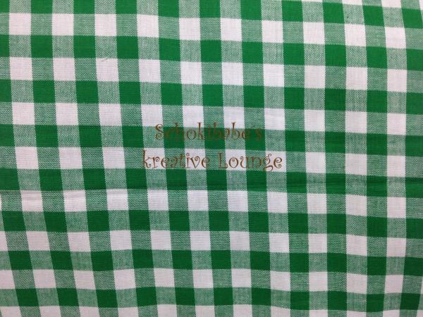 Baumwolle Vichy Karo 10 mm grün
