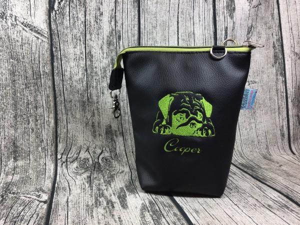 GassiTaschi Pascha - Cooper grün - schwarz