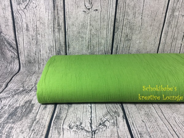 Crincle uni grün