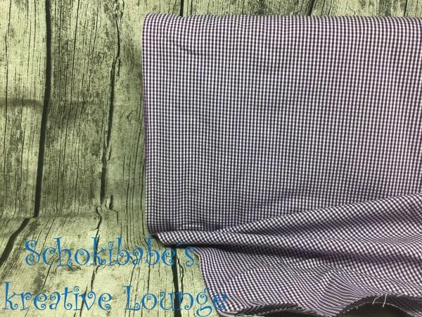 Baumwolle Vichy Karo 2 mm lila
