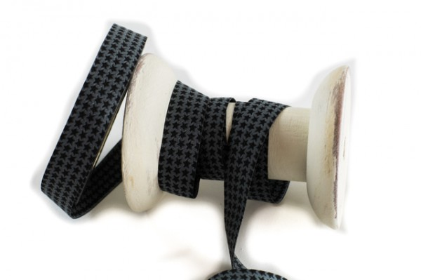 Webband Farbenmix Mini Staaars schwarz - grau