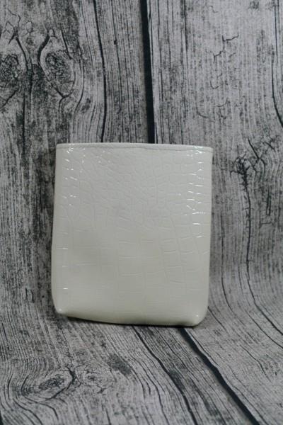 Mini Futterbeutel Kaylo Struktur weiß - Karo grau