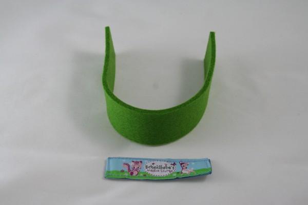 Wollfilz Streifen Zuschnitt grün
