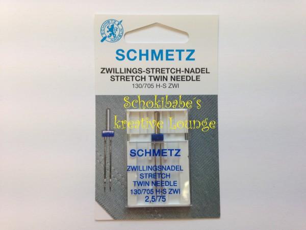 1er Twin 2.5mm Schmetz Maschinennadeln