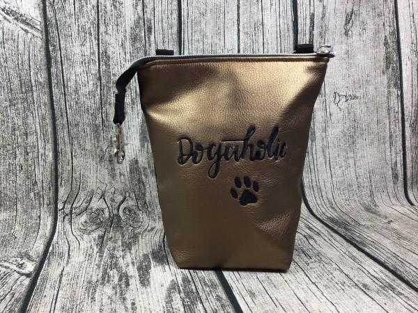 GassiTaschi Dogaholic schwarz - bronze metallic