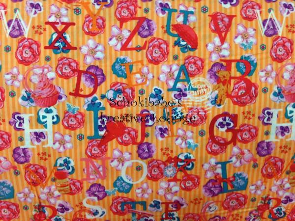"""Baumwolle So Cute Anna """"Buchstaben"""" orange"""