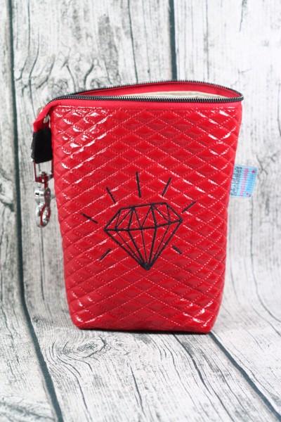 Gassi Taschi Diamant Lack rot - schwarz