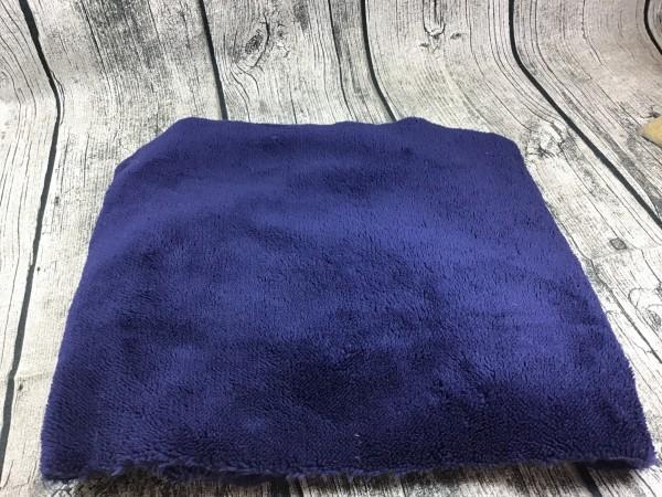 RESTSTÜCK 18 cm Wellnessfleece unifarben dunkelblau
