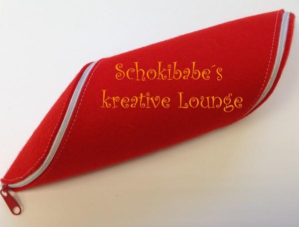 Filz Stifte Rollmäppchen rot-weiß