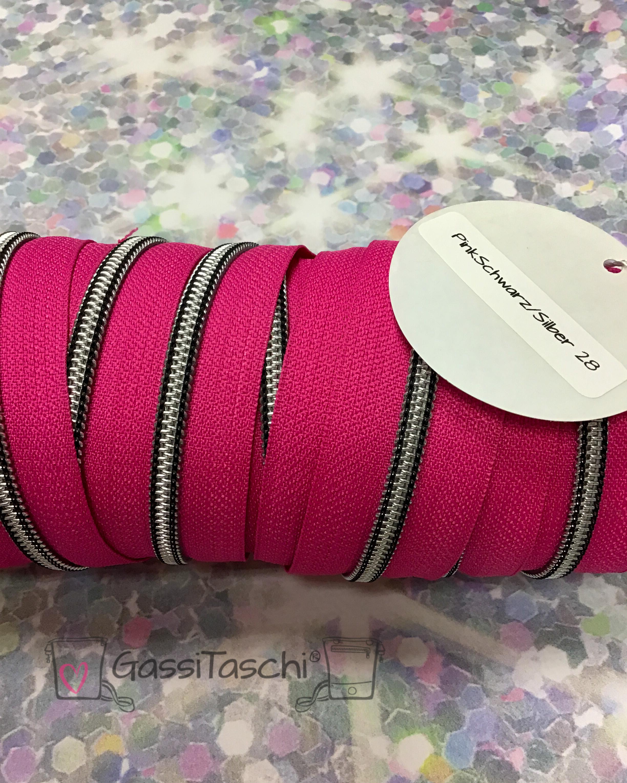 028-pinkschwarz-silber
